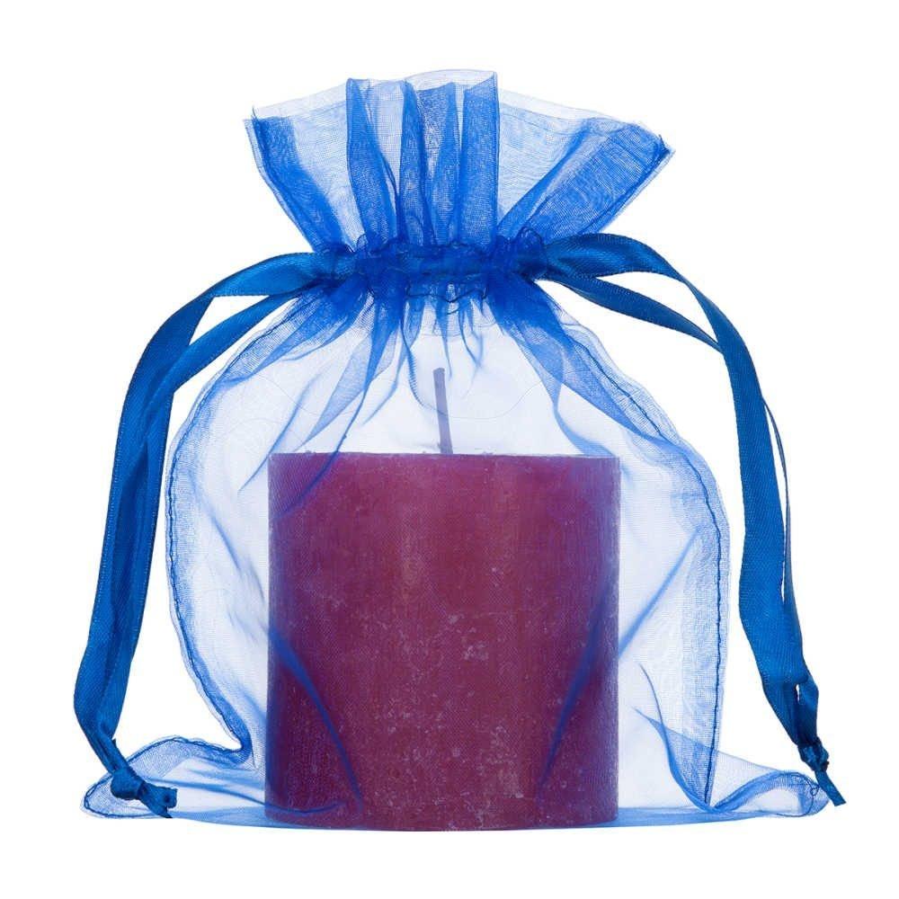Sacchetto organza 15x20cm bluette