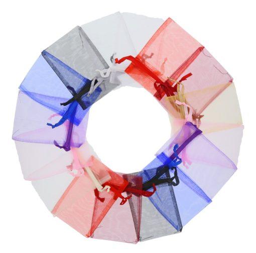 Sacchetto organza grandi 10x15cm colori diversi (3)