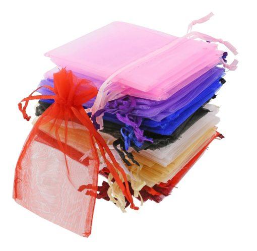 Sacchetto organza grandi 7x12cm colori diversi (2)