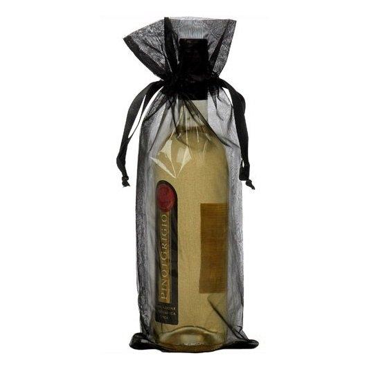 Sacchetto organza per bottiglie nero