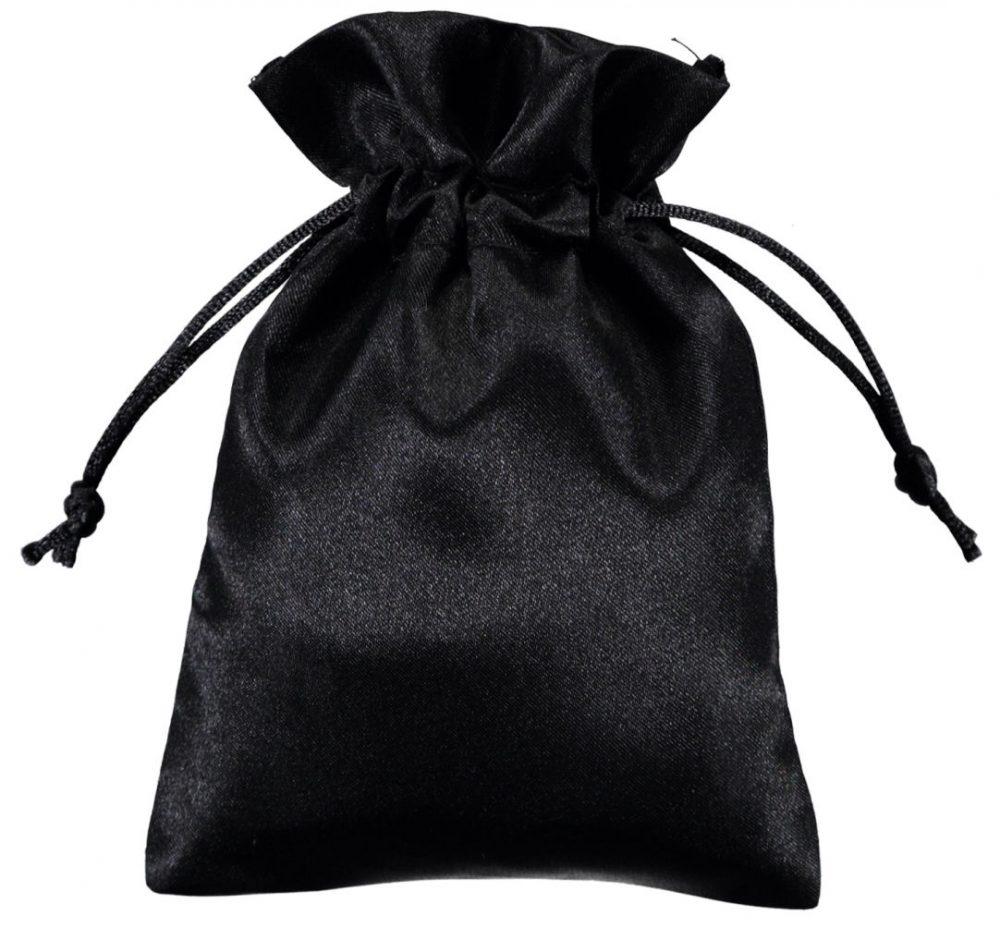 Sacchetto raso 10x15 cm nero