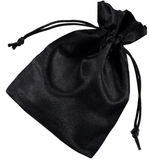 Sacchetto raso nero10x15cm 2.0