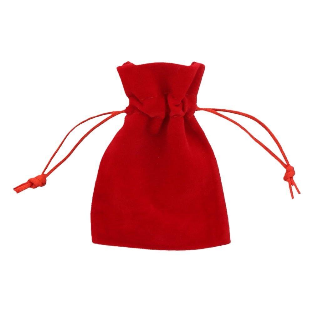 Sacchetto velluto 7,5x10cm rosso