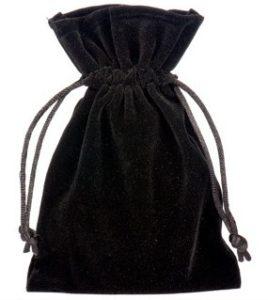 Sacchetti di velluto nero 10x15cm