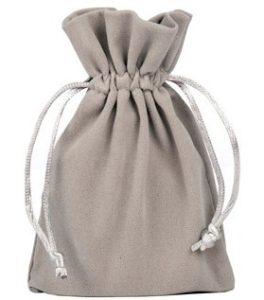 Sacchetti di velluto grigio 10x15cm