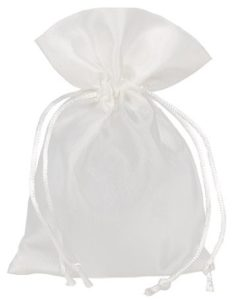 Sacchetti raso 10x15cm bianco