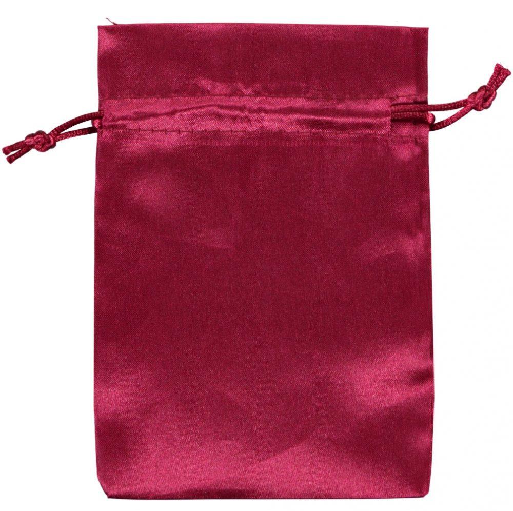 Sacchetto raso 10x15 cm rosso (2)