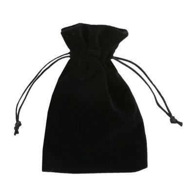 Sacchetto velluto 10x15cm nero