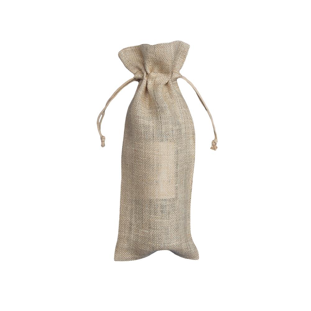 Sachetti portabottiglie in juta bio 100% naturale 15x38cm