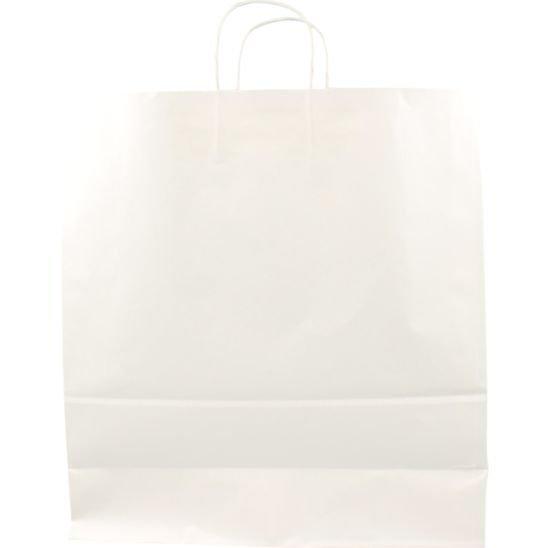100 pezzi Borsa da Trasporto in Carta Blanco con Cordone Ritorto, 46x17x48cm