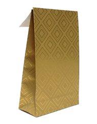 50 pezzi Sacchetti regalo Piastrelle Oro Trip adesivo e blocco di fondo 10x15,7x4 of 14x23x5,5cm