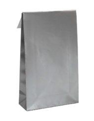 50 pezzi Sacchetti regalo d'argento Trip adesivo e blocco di fondo 10x15,7x4 of 14x23x5,5cm