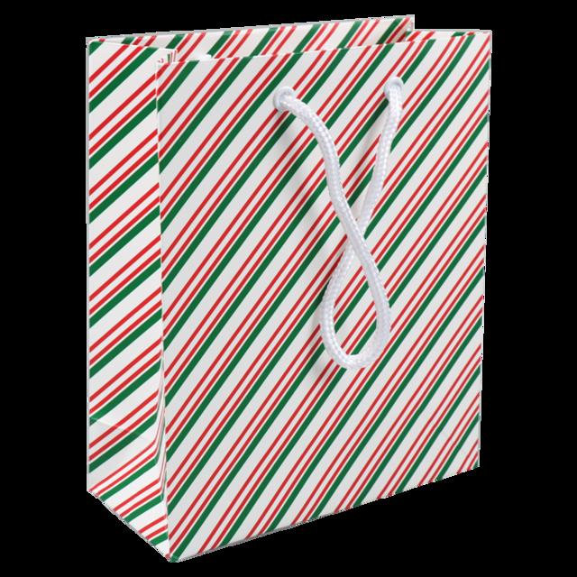 50 pezzie Borse di Carta Natalizie 18x8x22cm