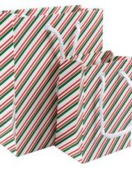 50 pezzie Borse di Carta Natalizie 11x7x15.5cm of 18x8x22cm