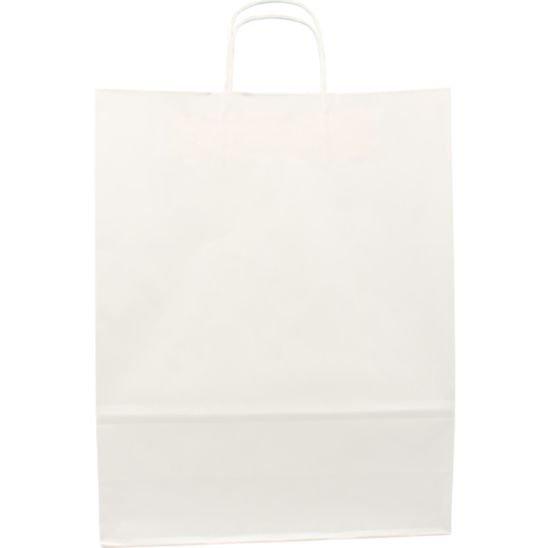100 pezzi Borsa da Trasporto in Carta bianco con Cordone Ritorto, 32x12x41cm,