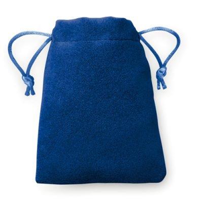 100 pezzi Sacchetto di Sguardo di Velluto 8x10cm blu