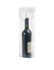 200 pezzi Borsa in Plastica Trasparente per Bottiglia di Vino10x9 x38 cm