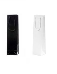 200 pezzi Borsa per Bottiglia di Vino Nero o Bianco 10x9 x38 cm (2)