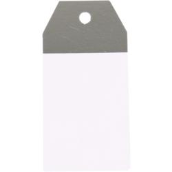 50 pezzi Etichette Regalo Kraft Bianco e Argento 4,5x9cm
