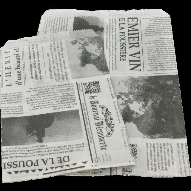 1000 pezzi Giornale francese di sacchetti di carta