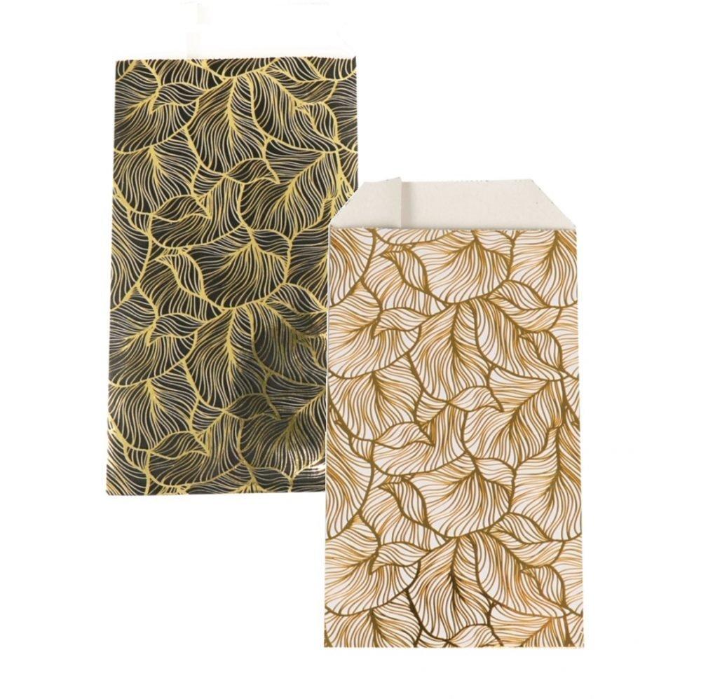 150 pezzi Sacchetti di Carta Foglie d'oro Scegli il tuo Colore e Taglia