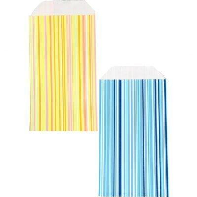 150 pezzi Sacchetti di Carta Strisce Scegli Colore e Taglia