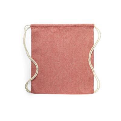 50 pezzi Zaini in 100% Cotone Riciclato in 4 Colori Taglia 38x42cm rosso (2)