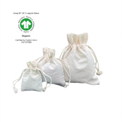 Sacchetti di cotone ecologici 116 gr m2